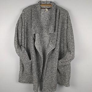HUE Fleece Oversized Open Front Cardigan